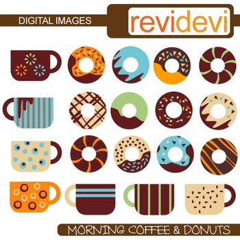 Morning Coffee and Donuts Clip art