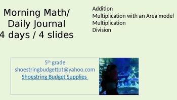 Morning Math 4 Days Green