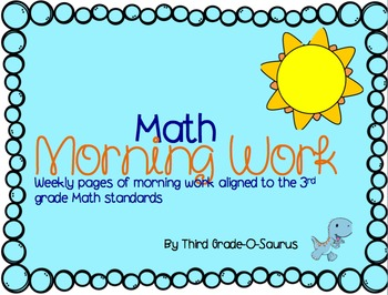 Morning Math Work