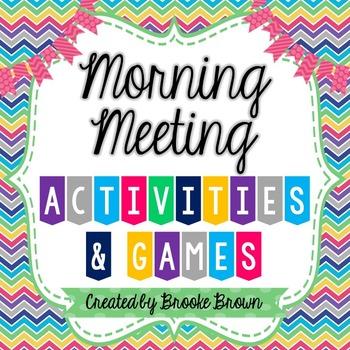 Morning Meeting Activities & Games