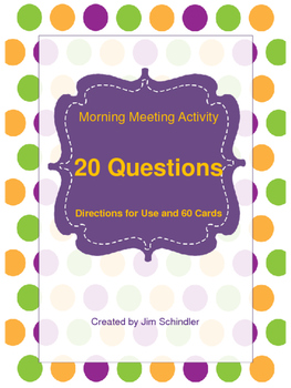 Morning Meeting Activity - 20 Questions