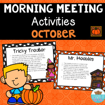 Morning Meeting Activity Cards *Halloween Edition*