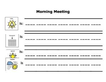 Morning Meeting Board - Visual Learners