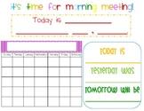 Morning Meeting Board
