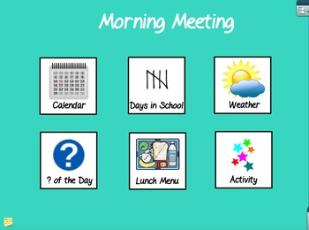 Morning Meeting Calendar Time- Special Education or Early