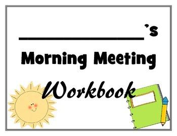 Morning Meeting Calendar Workbook