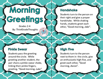 Morning Meeting Greetings Cards