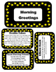 Morning Meeting Greetings for the Middle and end of the year