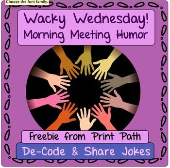 Morning Meeting Jokes: DeCoding Fun!  Freebie!