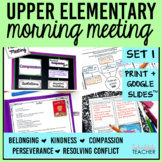 Morning Meeting Made Easy Set 1 with Themes in Literature