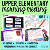 Morning Meeting with Themes in Literature Set 1