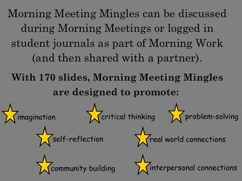Morning Meeting Mingles: Student Conversation Starters