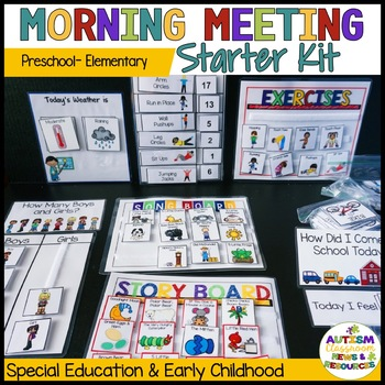 Morning Meeting Starter Kit*Preschool*Elementary (Autism; Special Ed.)