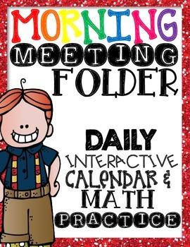 Morning Meeting - calendar & math