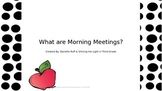 Morning Meetings Introduction