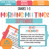 Morning Meetings: September