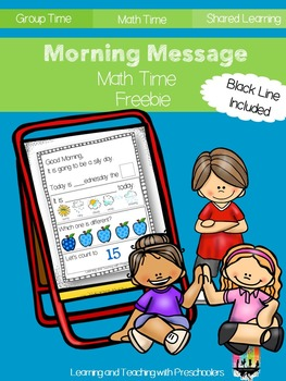 Morning Message Math Time Freebie