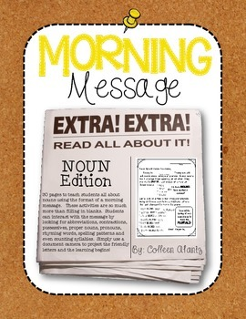 Morning Message: Noun Edition