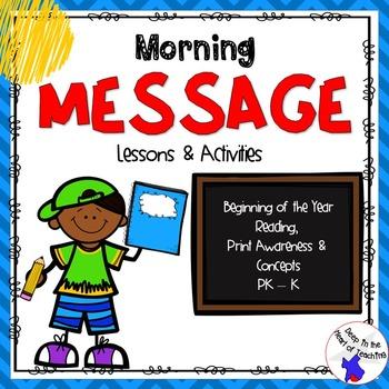 Morning Message Print Awareness