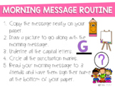 Morning Message Routine Sign Freebie