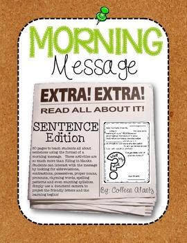 Morning Message: Sentence Edition