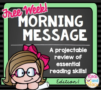 Morning Message: Spiraled Reading Skills *FREE WEEK*