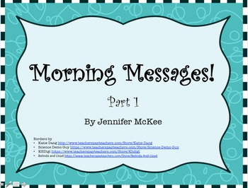 Morning Messages!