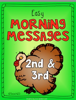 Thanksgiving Veterans Day  Morning Message 2nd and 3rd Grade