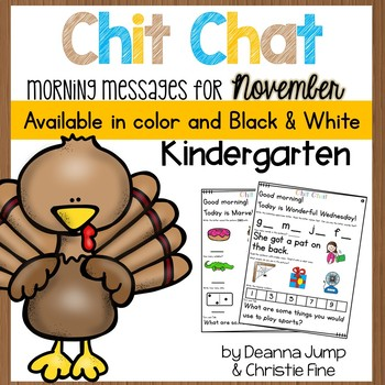 Morning Messages: Chit Chat November NO PREP
