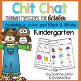 Morning Messages: Chit Chat October NO PREP