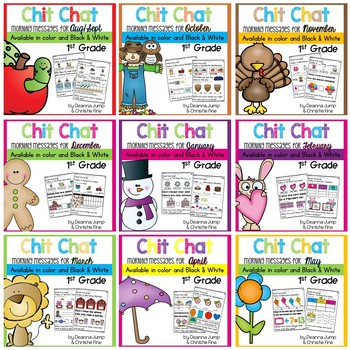 Morning Messages First Grade: Chit Chat YEARLONG BUNDLE