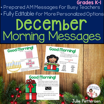 Morning Messages for December (Editable)