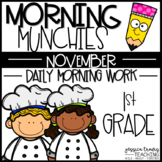 Morning Munchies {1st Grade Morning Work - November}