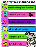 Morning Routine CHAMPS Poster