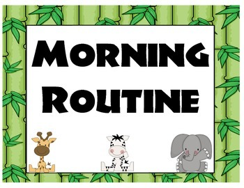 Morning Routine Jungle Theme