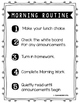 Morning Routine Poster