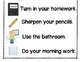 Morning Routine Poster with Matching Pictures
