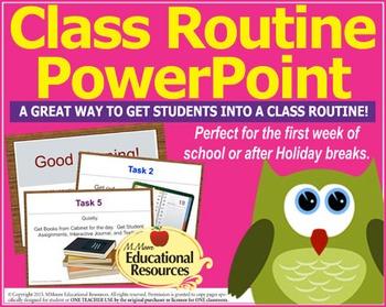 Classroom Management - Class Routine Starter PowerPoint {E