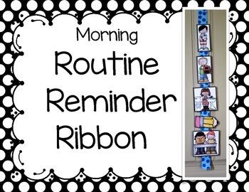 Morning Routine Reminder Ribbon
