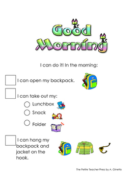 Morning Routines Student Checklist