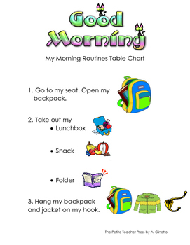 Morning Routines Visual Support