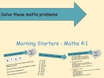 Morning Starters: Maths 4:1