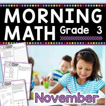 Morning Work - 3rd Grade Math