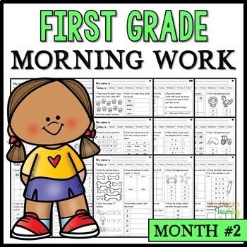 Month #2 Morning Work: First Grade Morning Work