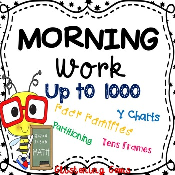 Morning Work Printables & Worksheets - Numbers to 1 000