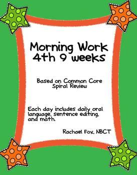 Morning Work 4th 9 Weeks