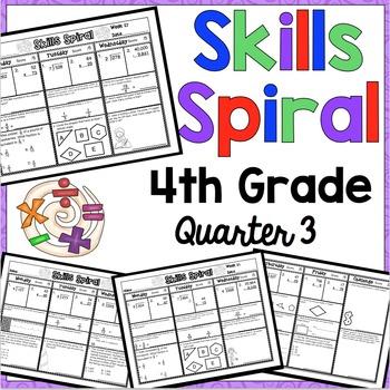 4th Grade Math Skills Spiral (3rd Quarter)