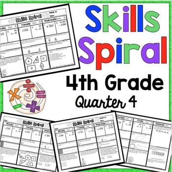 4th Grade Math Skills Spiral (4th Quarter)