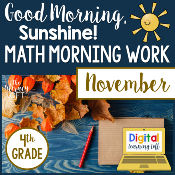 Morning Work 4th Grade {November}