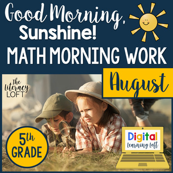 Morning Work 5th Grade {August}
